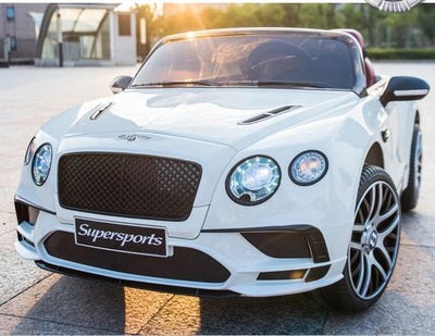 NEW BENTLEY CONTINENTAL SUPERSPORTS LICENSED 12V KIDS ELECTRIC RIDE-ON CAR WITH R/C PARENTAL REMOTE - WHITE Cars & SUVs Mini Motos