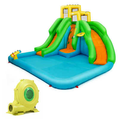 Kids Inflatable Water Park Bounce House with 480 W Blower - FREE SHIPPING