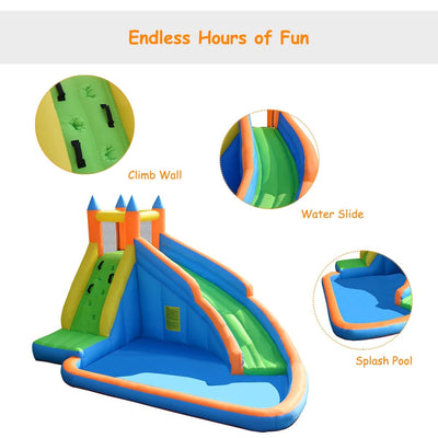 Inflatable Mighty Bounce House Jumper with Water Slide, Blower Not Included