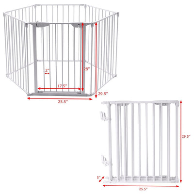 6 Panel Metal Gate Baby Pet Fence Safe Playpen Barrier - FREE SHIPPING
