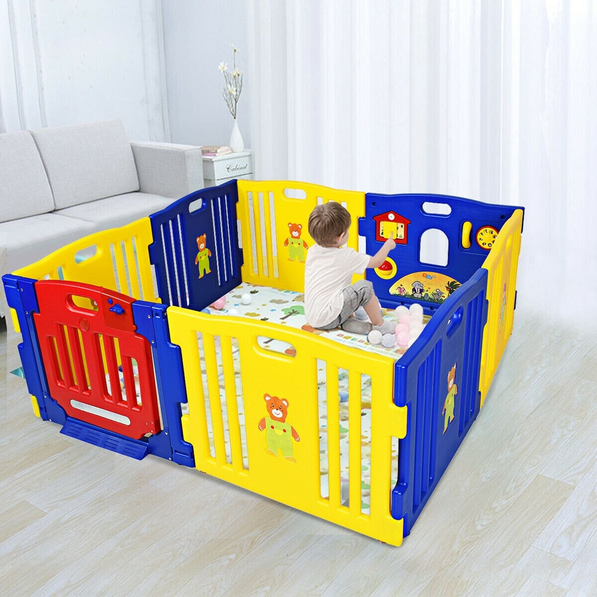 Baby Playpen Kids 8 Panel Safety Play Center Yard - FREE SHIPPING
