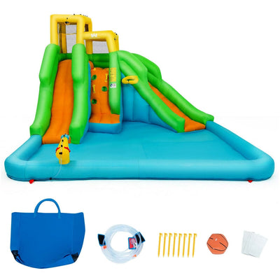 Inflatable Water Park Bounce House with Climbing Wall (Blower not included) - FREE SHIPPING
