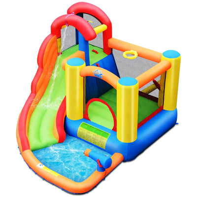 Inflatable Bounce House Water Slide with Climbing Wall without Blower