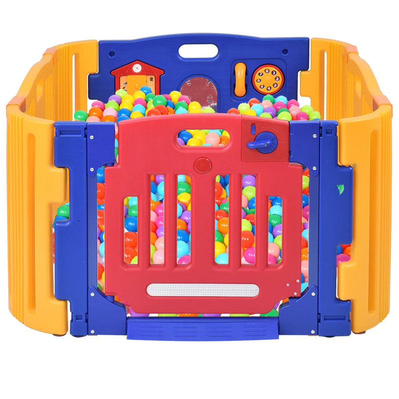 4 Panels Safety Baby Center Playpen