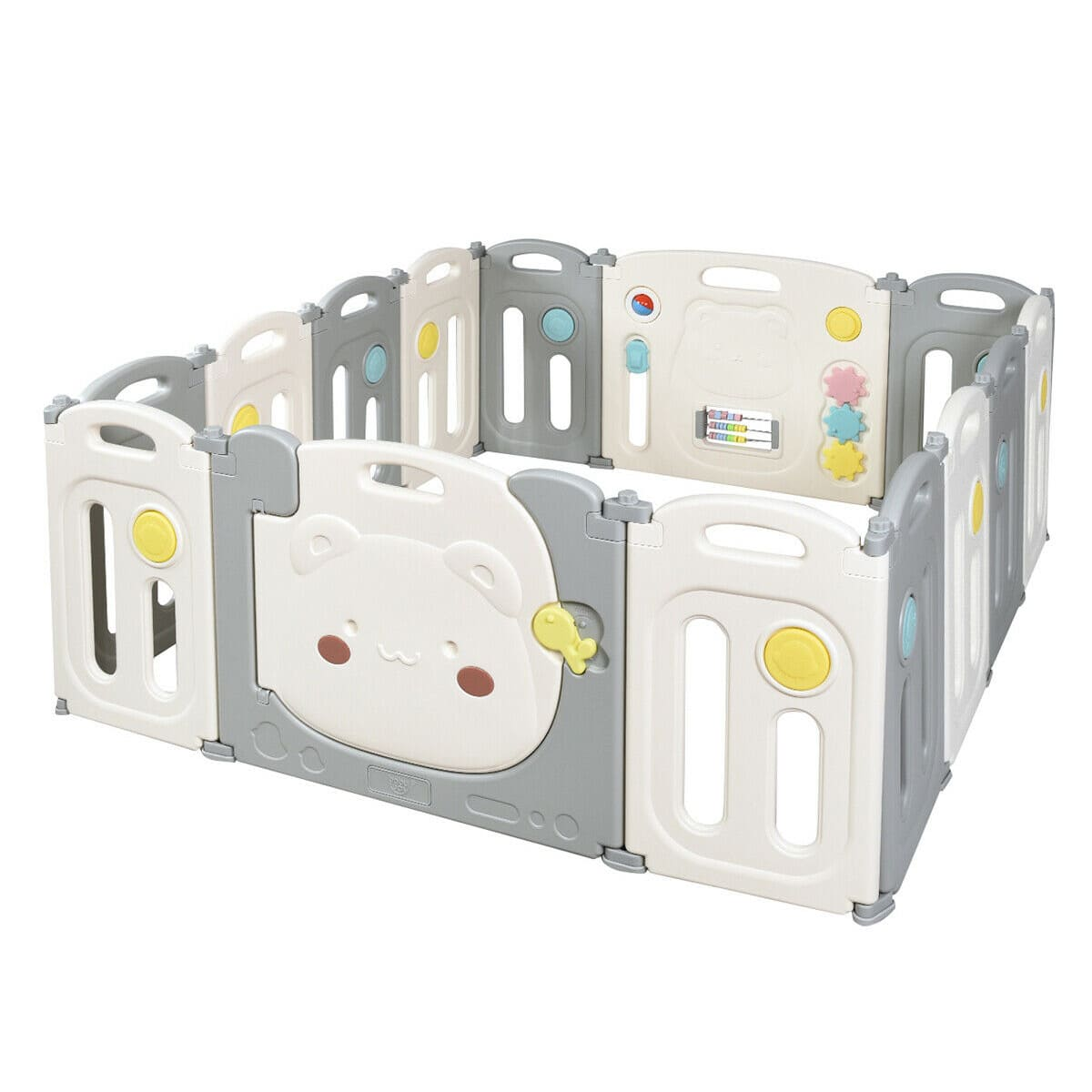 14-Panel Foldable Baby Playpen Safety Yard with Storage Bag - FREE SHIPPING