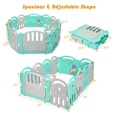 Kids Activity Center Playpen with Basket Hoop Music Box - FREE SHIPPING