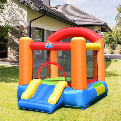 Inflatable Castle Jump Bounce House with Slide - Air Blower Included