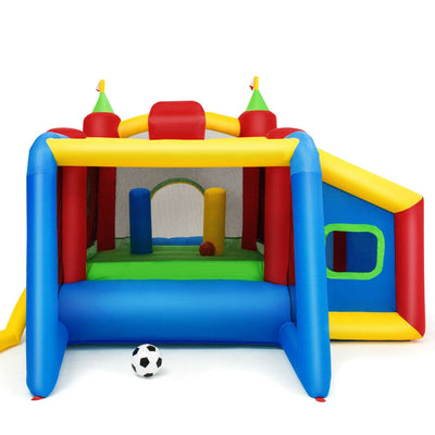 Colorful Kids Inflatable Bounce House with 480W Blower and Plastic Balls - FREE SHIPPING