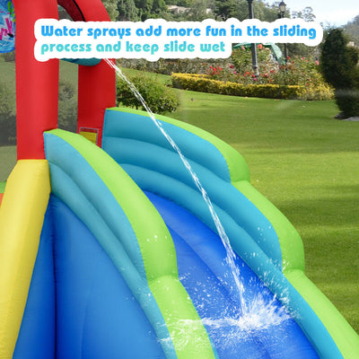 Kids Inflatable Water Slide Bounce House with Carry Bag (Blower Not Included)