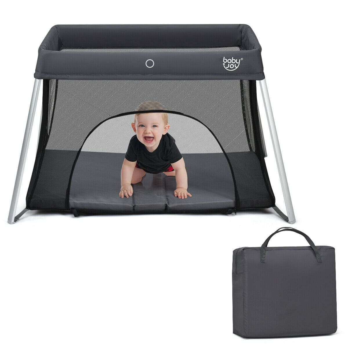 Lightweight Foldable Baby Playpen w/ Carry Bag - FREE SHIPPING