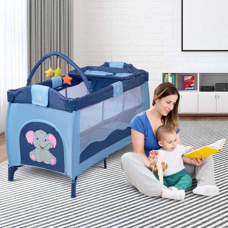 Foldable 4 color Baby Crib Baby Bed Playpen