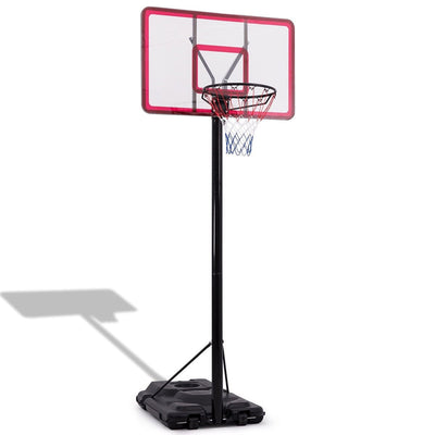 10' Foot Basketball System 44 Inch Backboard Height Adjustable Pole Hoop Stand with Wheels - FREE SHIPPING