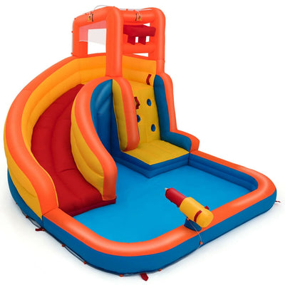 Inflatable Water Bouncer House with Climbing Wall - Blower Not Included