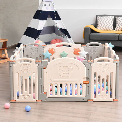 Foldable Baby Playpen 14 Panel Activity Center Safety Play Yard - FREE SHIPPING
