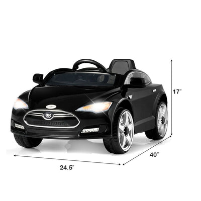 Tesla Inspired 6V Kids Electric Powered Ride On Car with Remote Control with FREE SHIPPING