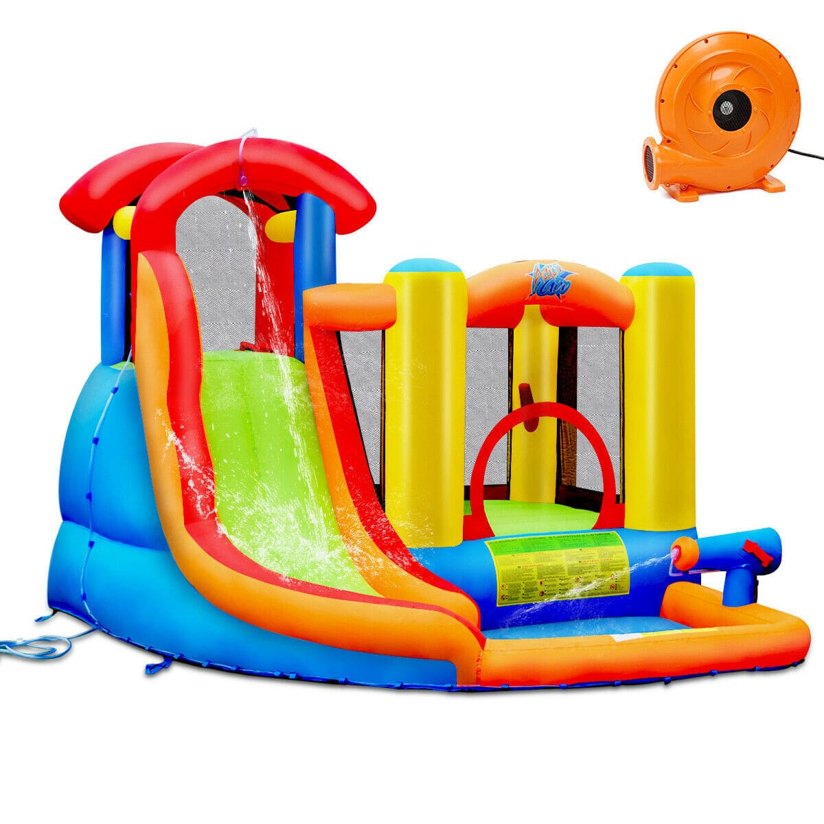 Inflatable Castle Water Slide  Bounce House with 740W Blower - FREE SHIPPING