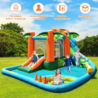 Super Water Park Bounce House with 780W Blower and Slide - FREE SHIPPING