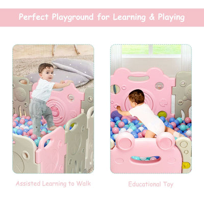 Baby Playpen Activity Center Safety Play Yard Cute Frog