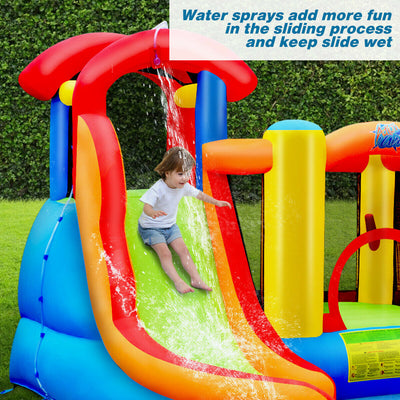 Inflatable Castle Water Slide Bounce House with 740W Blower