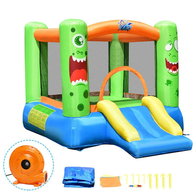 Inflatable Slide Jumper Kids Playhouse with 580W Blower
