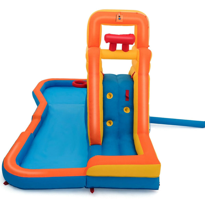 Inflatable Water Bouncer with Climbing Wall and Ball Hoop (Blower Not Included) - FREE SHIPPING