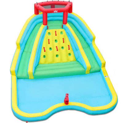 Double Side Inflatable Water Slide Park with Climbing Wall - FREE SHIPPING