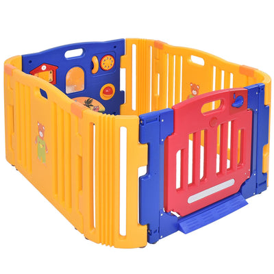 4 Panels Safety Baby Center Playpen - FREE SHIPPING