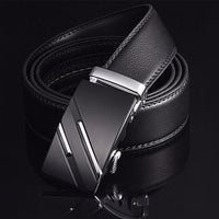 Genuine Leather Belt, Metal Automatic Buckle