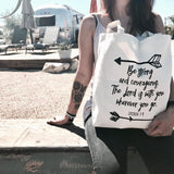 """Be Strong and Courageous"" Christian theme tote bag"