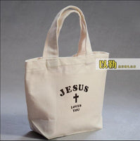 Christian Canvas Gift Bag Bible