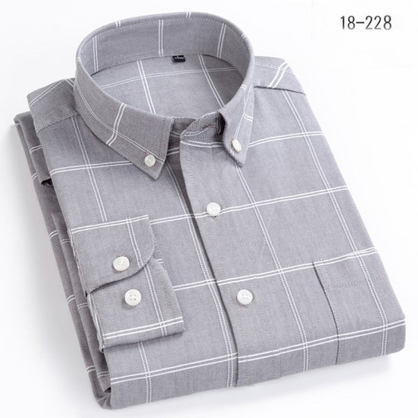 Plus Size Long Sleeve Turn-Down Button Collar Shirt