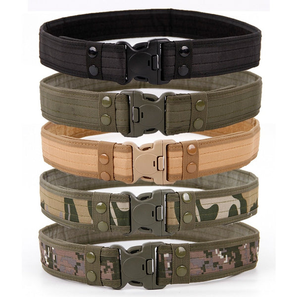 Army Style Quick Release Tactical Canvas Belt for Men