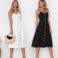 Sleeveless Spaghetti Strap Dress