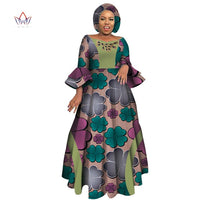 Long Sleeve Dashiki African Women Party Dress