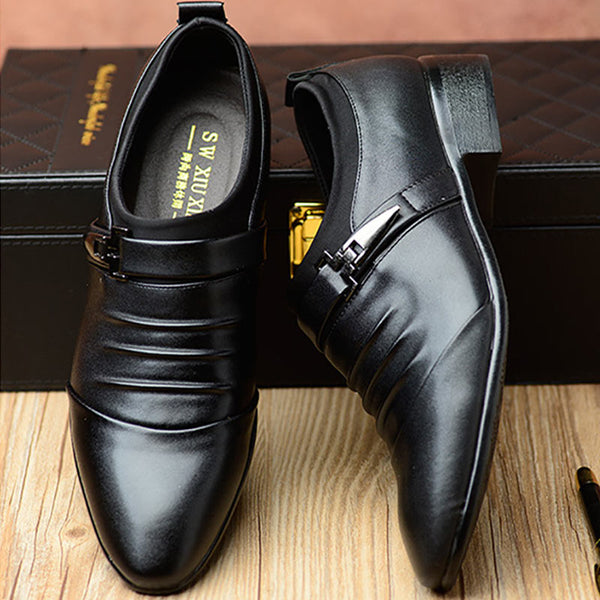 Synthetic Leather Lace Up Business Shoes for Men