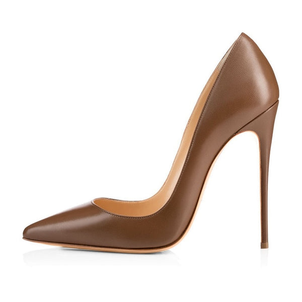 Pointed Toe Thin Heels Patent Leather Shoes