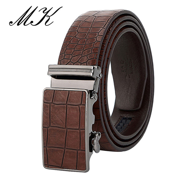 Men's Crocodile Pattern Genuine Leather Belt