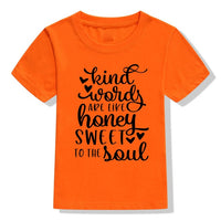"""Kind Words Are Like Honey"" Kids T-Shirt"