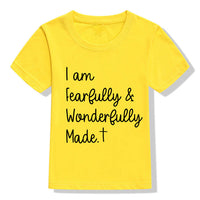 """Fearfully and Wonderfully Made"" Unisex Kids T-Shirt"