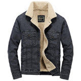 Denim Winter Windbreaker Cowboy Jacket