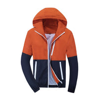 Men's Hooded Windbreaker Casual Jackets