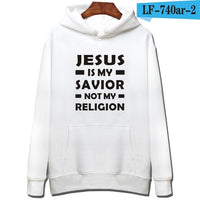 Hooded long sleeve sweatshirt - Christian theme