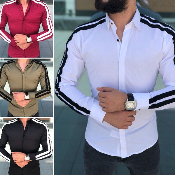 Formal long sleeve slim fit shirt