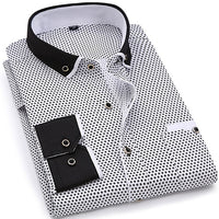 Long Sleeved Printed Slim Fit Shirt