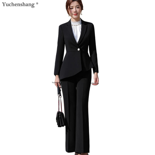 Formal suit - symmetrical blazer with trousers