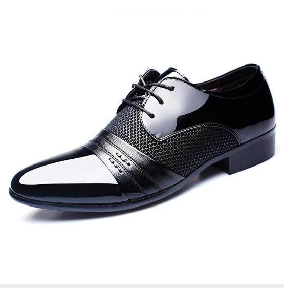 Business PU Leather Lace-up Shoes