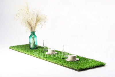 SunVilla Artificial Grass Table Runner for Table Decoration Realistic for Garden Wedding Party Many Sizes