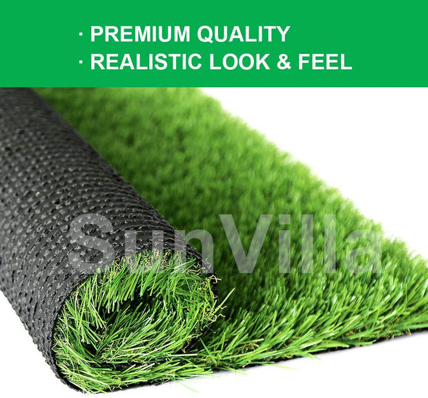 SunVilla Realistic Indoor/Outdoor Artificial Grass/Turf (1 FT X 13 FT = 13 Square Feet)