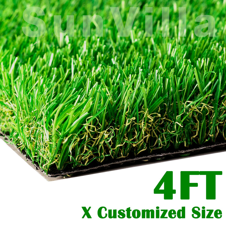 "SunVilla Artificial Grass Realistic 【 Customized Sizes 】 Grass Height 1 3/8"" Indoor/Outdoor Artificial Grass/Turf Many Sizes(4FTX4-82FT)"