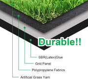 "SunVilla Artificial Grass Realistic 【 Customized Sizes 】 Grass Height 1 3/8"" Indoor/Outdoor Artificial Grass/Turf Many Sizes(11FTX11-82FT)"
